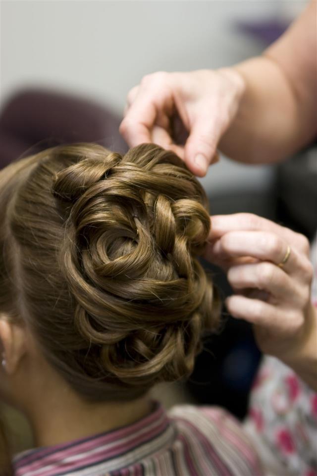Brial Hair Style At Salon