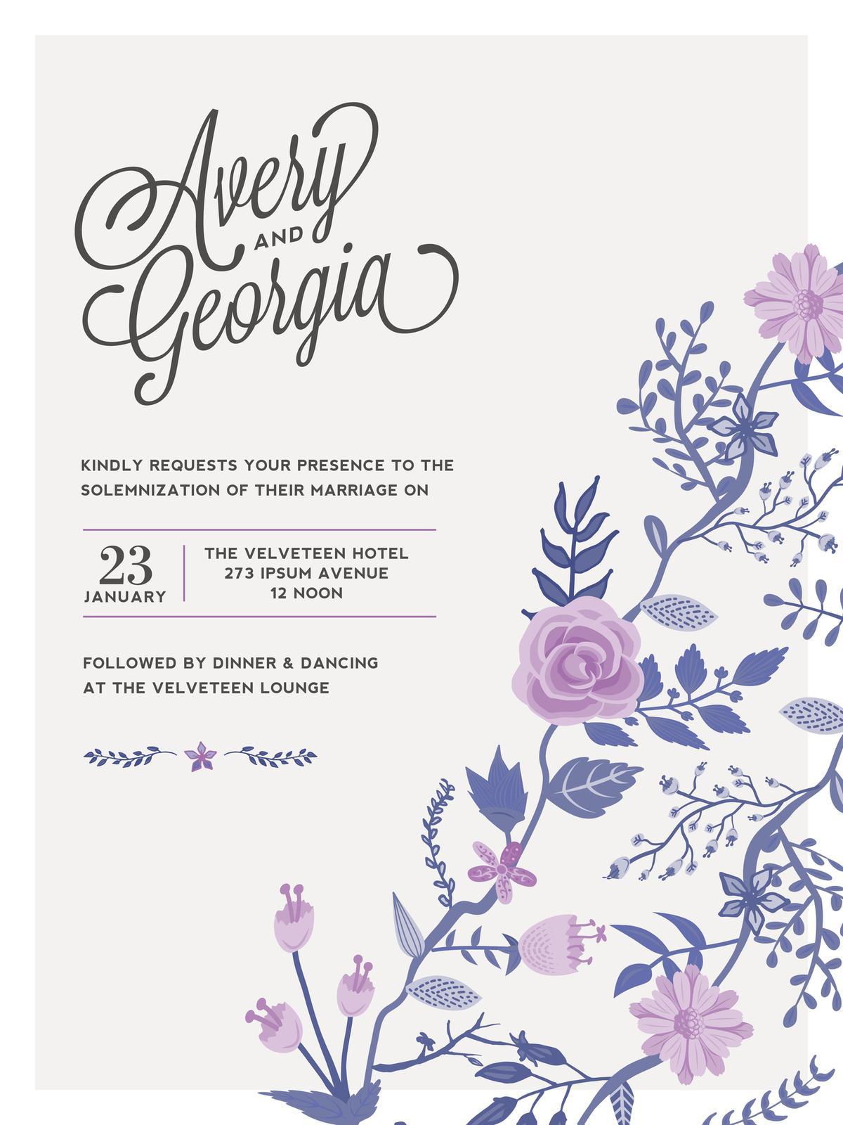 Do It Yourself Wedding Invitations Templates: 5 Exceptionally Thoughtful Do-it-yourself Wedding Invitations