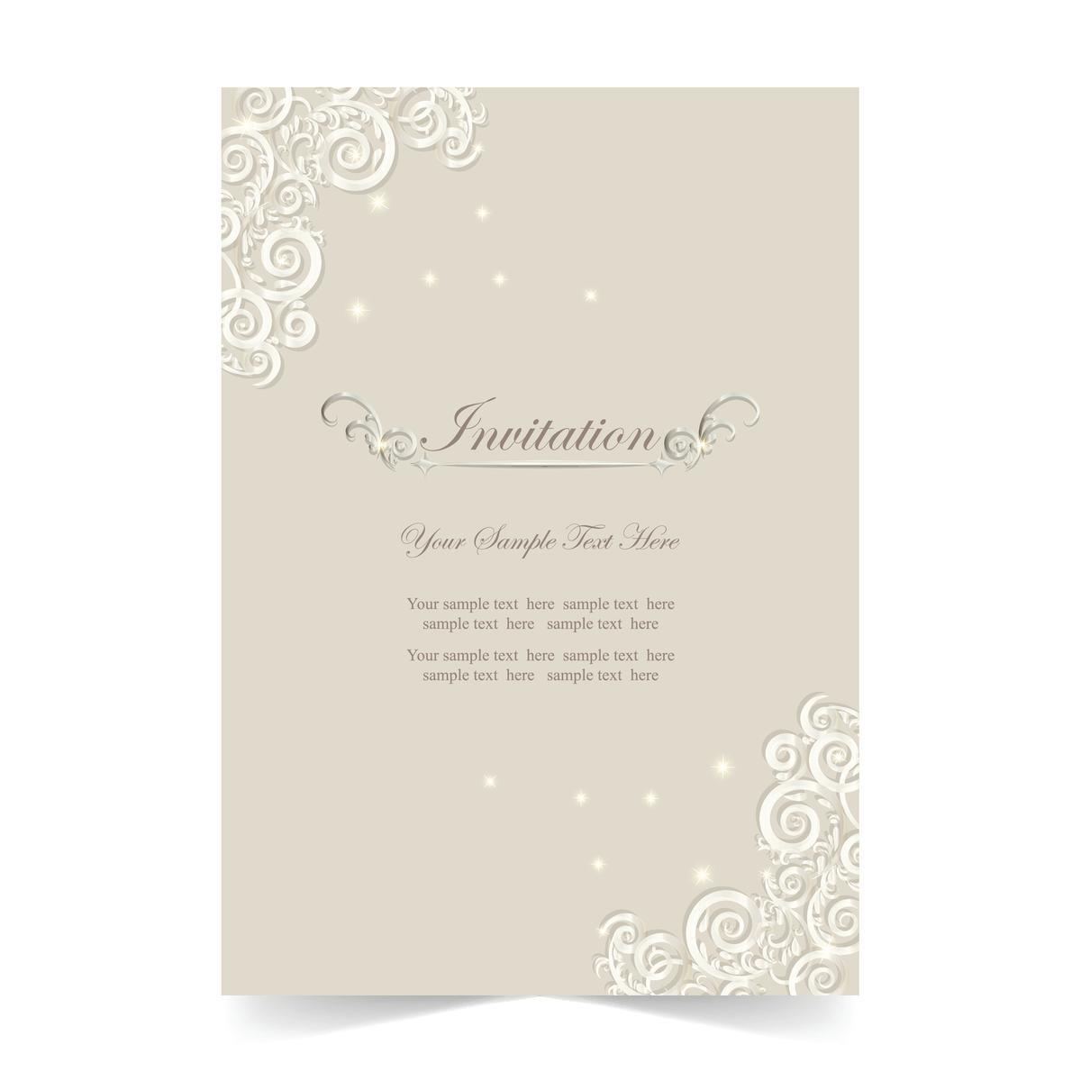 invitation card text