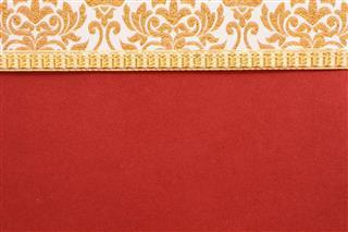 Red invitation card