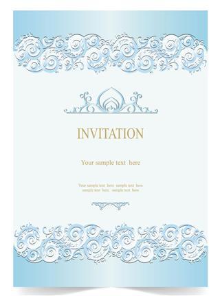 Wedding card soft blue