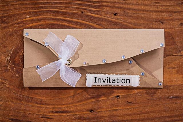 Vintage invitation envelop