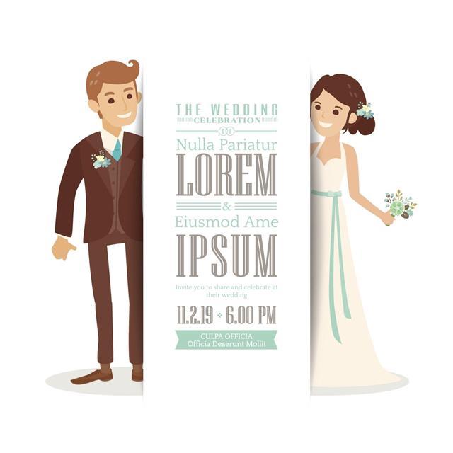 Wedding couple groom and bride