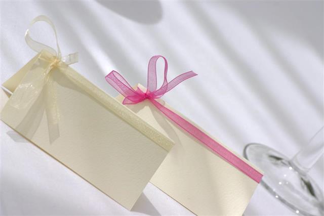 Blank wedding cards