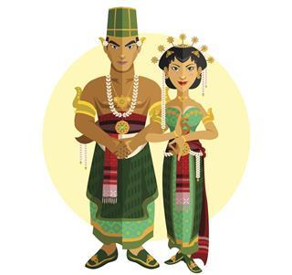 Indonesian Java Wedding Ceremony