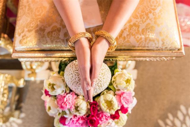 Thai culture wedding ceremony