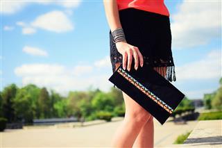 Stylish Young Girl With Handbag
