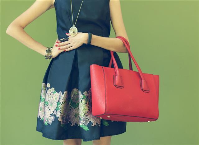 Fashionable Beautiful Red Handbag