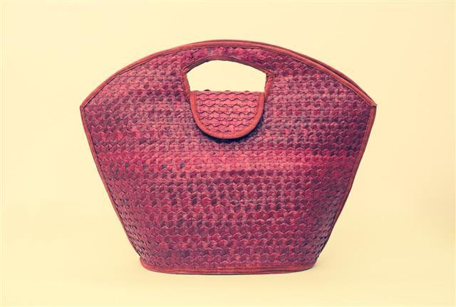 Purple Summer Female Straw Bag