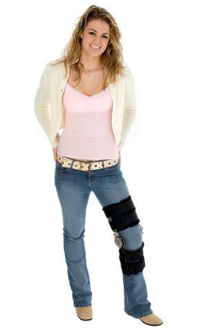 Teen Wearing Leg Brace