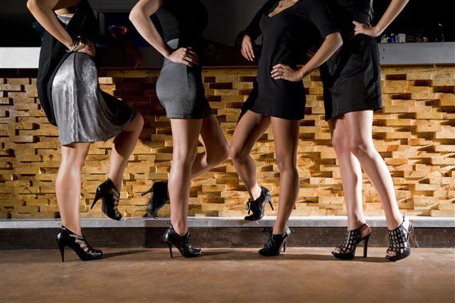 Women Wearing High Heels