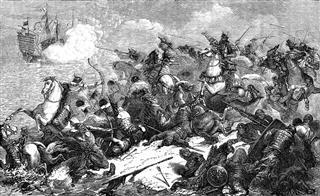 Japanese Warriors Repel Mongol Invasion
