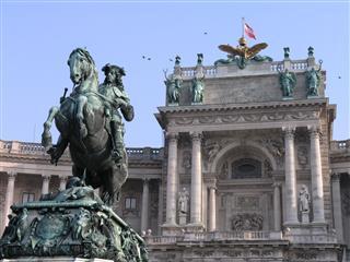 Heldenplatz And Hofburg Vienna