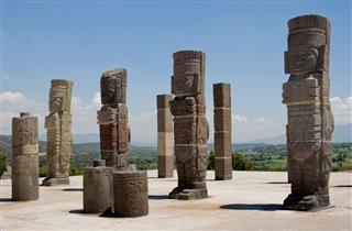 Toltec Temple Ruins In Tula