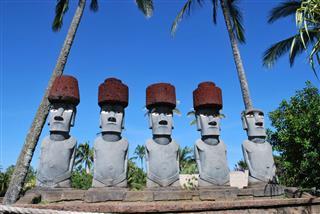 Anakena Moai Statues