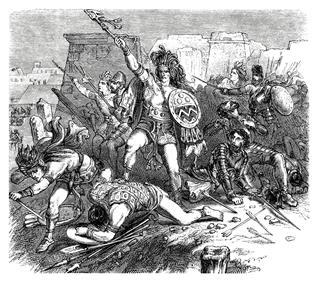 Aztec And Spanish Troups