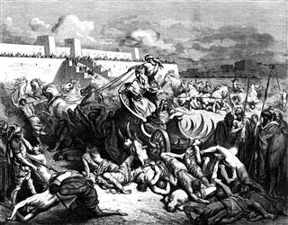 David Battles Against The Ammonites