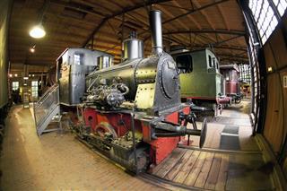 Steam Locomotive In Industrial Museum