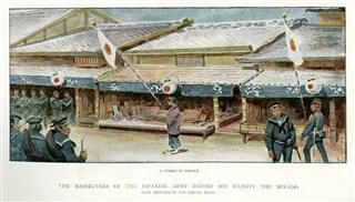 Japanese Army Manoeuvres Nagoya