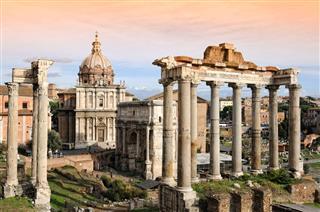 Ruin Architecture In Italy