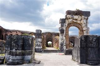Roman Amphitheatre In Capua Italy
