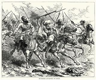 Mutineers Advancing On Delhi