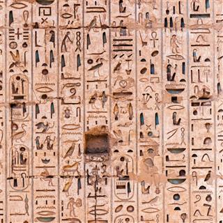 Egyptian Hieroglyphs In Karnak Temple