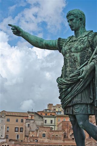 Caesar Augustus Bronze Statue