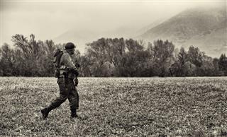 Ww2 American Soldier On Patrol