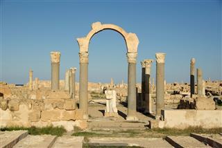 Arch In Sabratha Libya