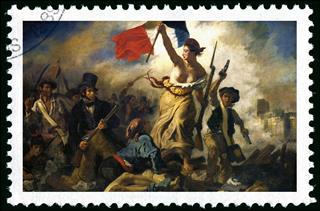 Revolution Stamp Ferdinand Delacroix