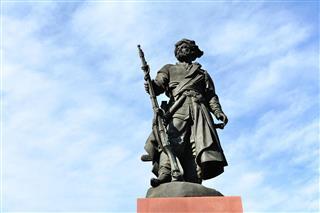 Monument Of Ivan Pokhabov