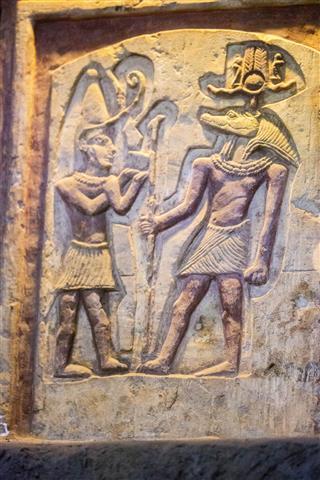 Relief Sculpture In Kom Ombo