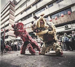 Lion Dance In Kuala Lumpur Malaysia
