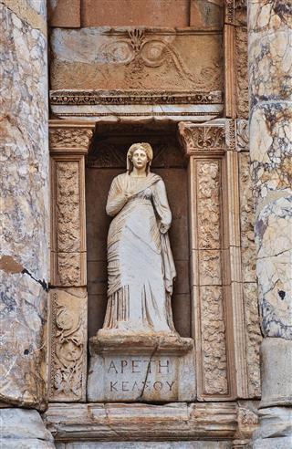 Destroyed Statue In Ephesus