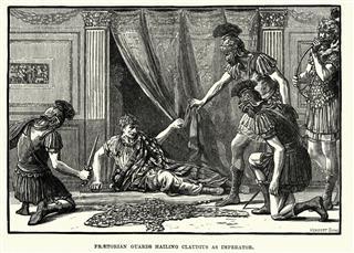 Praetorian Guards Hailing Claudius