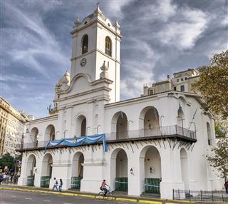 Historic Cabildo Building In Buenos Aires