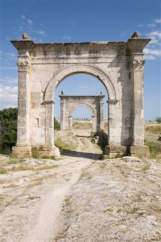 Old Roman Bridge And Toll Gates