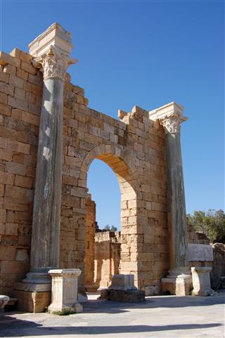 Arch Leptis Magna Libya