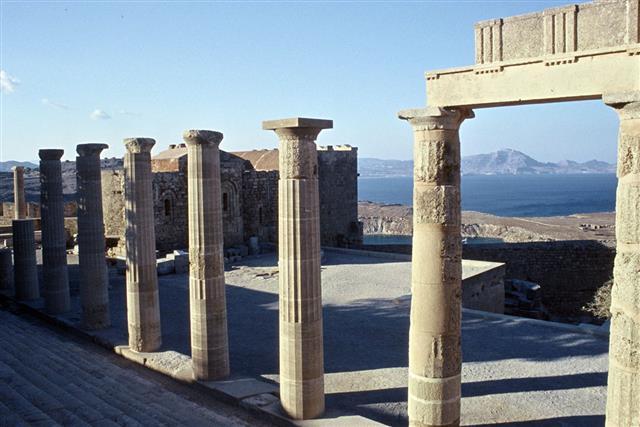 Lindos Acropolis Pillars