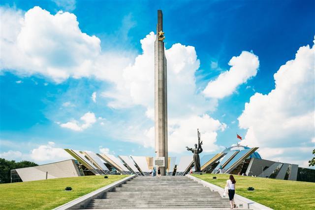 Monument Near Building Belorussian Museum