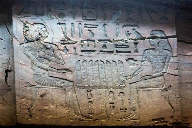 Relief Sculpture With Heiroglyphs