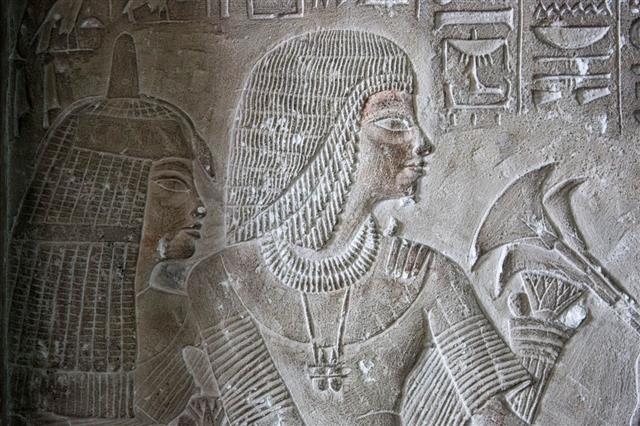 Relief Sculpture With Hieroglyphs