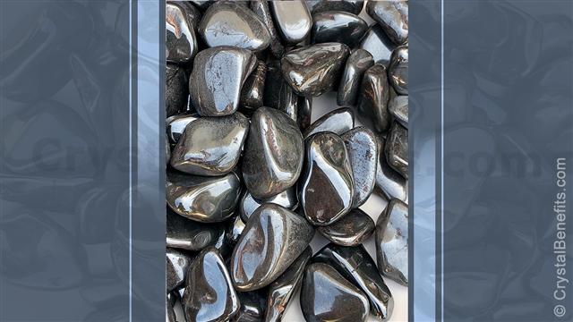 Hematite metalic stone